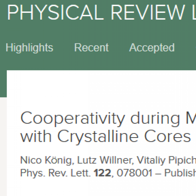 New article in PRL